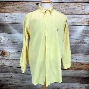 Ralph Lauren Blake Button Down Shirt Solid Yellow